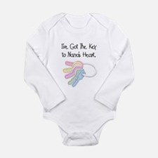 Key to Nana's Heart Long Sleeve Infant Bodysuit