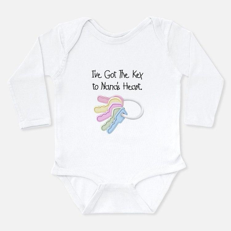 Key to Nana's Heart Long Sleeve Infant Bodysuit