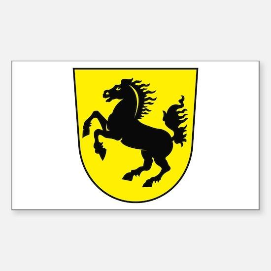 Stuttgart Coat of Arms Rectangle Decal