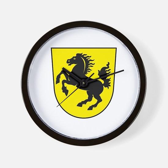 Stuttgart Coat of Arms Wall Clock