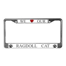 White We Love Our Ragdoll Cat Frame