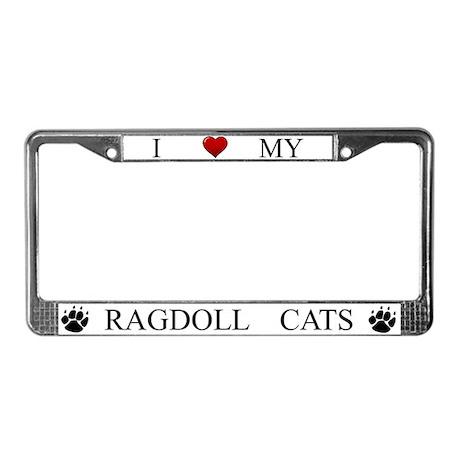 White I Love My Ragdoll Cats Frame