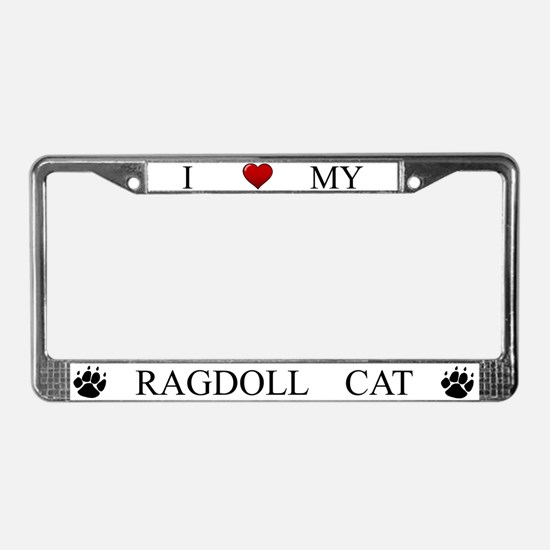 White I Love My Ragdoll Cat Frame