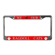 Red We Love Our Ragdoll Cats Frame