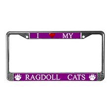 Purple I Love My Ragdoll Cats Frame