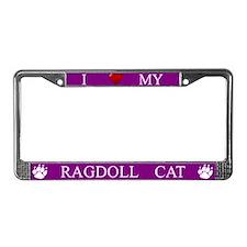 Purple I Love My Ragdoll Cat Frame