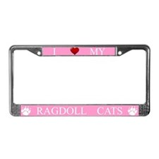 Pink I Love My Ragdoll Cats Frame