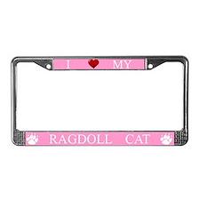 Pink I Love My Ragdoll Cat Frame