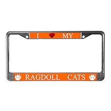 Orange I Love My Ragdoll Cats Frame