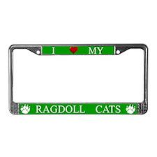 Green I Love My Ragdoll Cats Frame