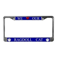 Blue We Love Our Ragdoll Cat Frame