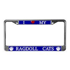 Blue I Love My Ragdoll Cats Frame