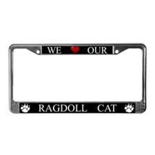 Black We Love Our Ragdoll Cat Frame