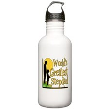 Best Step Dad Fishing Water Bottle