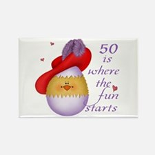 Red Hat 50 Fun Rectangle Magnet