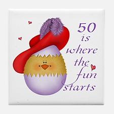 Red Hat 50 Fun Tile Coaster