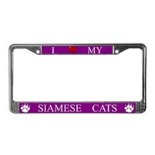 Purple I Love My Siamese Cats Frame