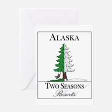 Alaska Two Seasons Resort Greeting Card