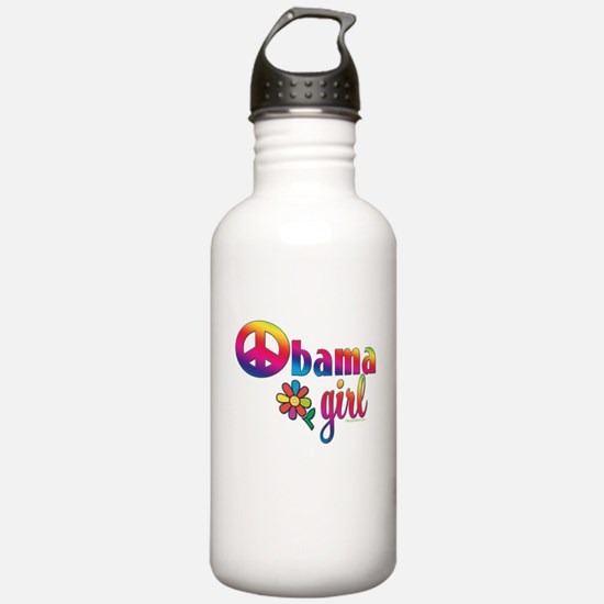 Obama Girls Peace Sign Water Bottle