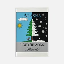 AK Two Seasons Resort Color Rectangle Magnet