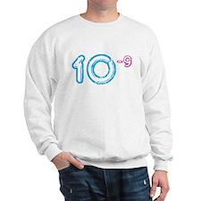 10 (-9 power, blue) Sweatshirt