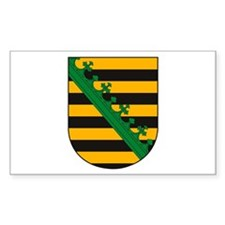 Saxony Coat of Arms Rectangle Decal