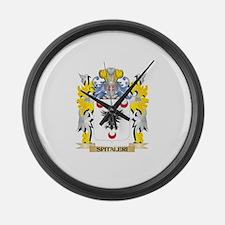 Spitaleri Family Crest - Coat of Large Wall Clock