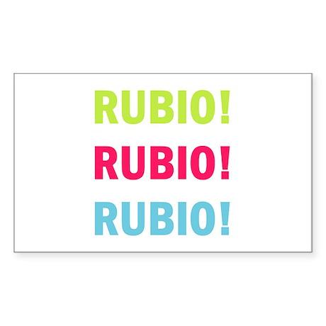 Rubio Rubio Rubio Sticker (Rectangle)