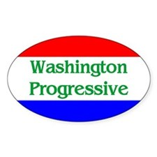 Washington Progressive Oval Decal
