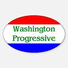 Washington Progressive Oval Decal