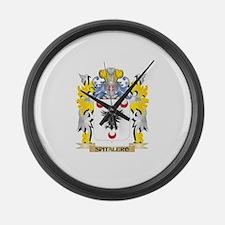 Spitalero Family Crest - Coat of Large Wall Clock