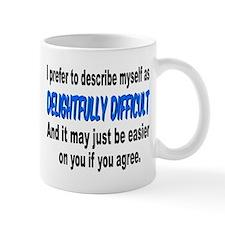 """Difficult"" Small Mug"