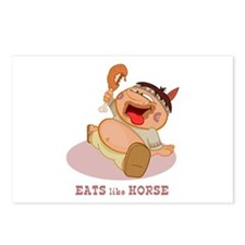 Eats like Horse Postcards (Package of 8)