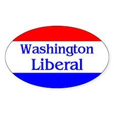 Washington Liberal Oval Decal