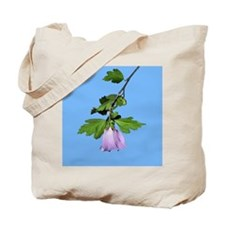 Rose of Sharon on Blue Tote Bag