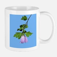 Rose of Sharon on Blue Mug