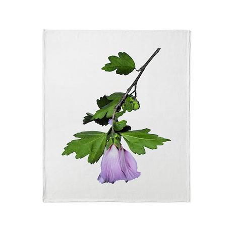 Rose of Sharon Throw Blanket