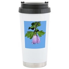 Rose of Sharon on Blue Thermos Mug