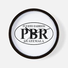 PBR Puerto Barrios Wall Clock