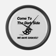 Come to the Darkside Large Wall Clock