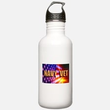 Navy Vet bur Water Bottle