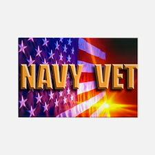 Navy Vet bur Rectangle Magnet (10 pack)