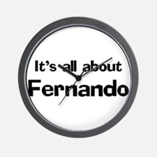 It's all about Fernando Wall Clock