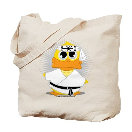 Karate Duck Tote Bag