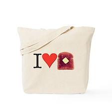 Toast Love Tote Bag