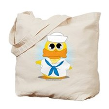 Navy Sailor Duck Tote Bag