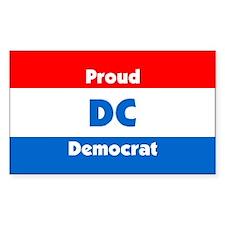 Proud D.C. Democrat Rectangle Decal