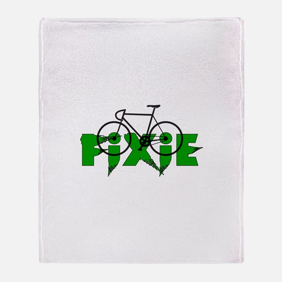 Fixie Throw Blanket