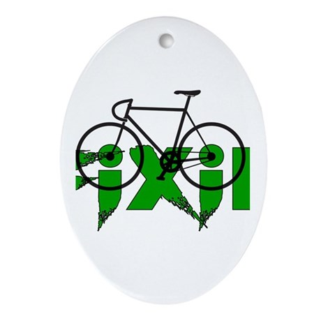 Fixie Ornament (Oval)