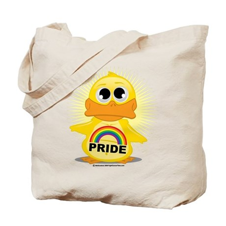 Rainbow Pride Duck Tote Bag